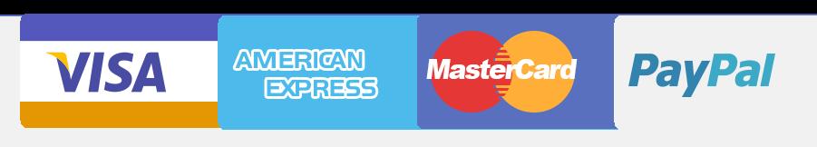 Icone carte di credito e PayPal